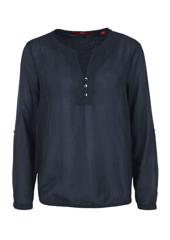 feine bluse mit saum gummibund kaufen s oliver shop. Black Bedroom Furniture Sets. Home Design Ideas