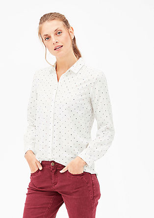 Patterned twill blouse from s.Oliver