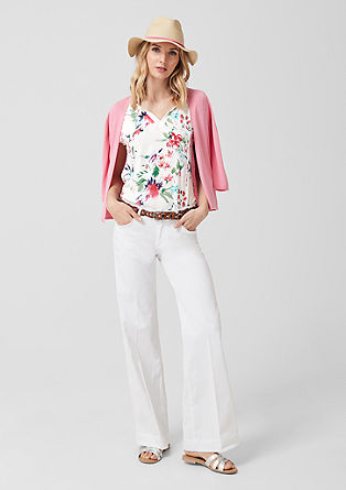 Floral blouse top with lace from s.Oliver