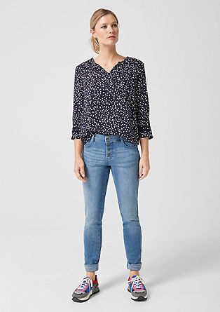 Patterned O-shaped blouse from s.Oliver