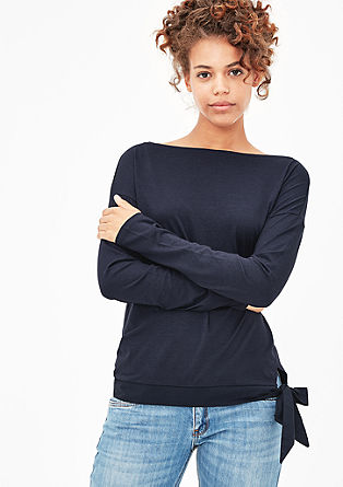 Jersey-Shirt mit Knoten-Detail