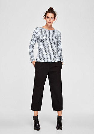 Long sleeve top with a printed pattern from s.Oliver