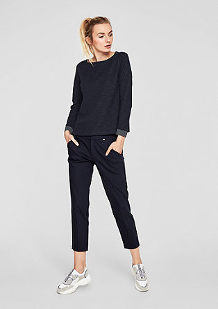 Long sleeve top in an inside-out look from s.Oliver