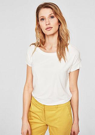 Oversized T-shirt met boordjes