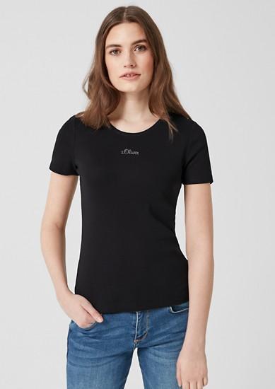 T-shirt à imprimé logo de s.Oliver