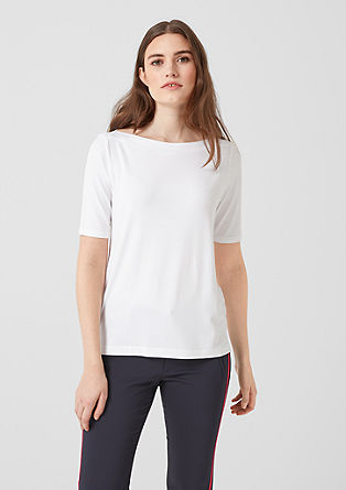 Basic top with a bateau neckline from s.Oliver