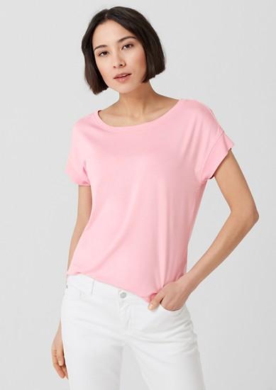 T-Shirt mit breiten Rippbündchen