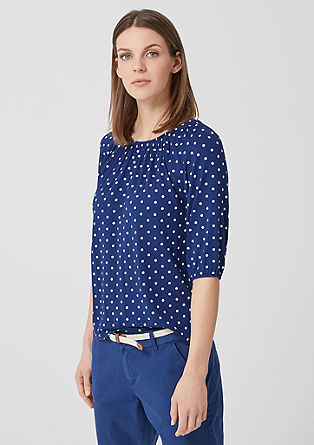 Polka dot jersey top from s.Oliver