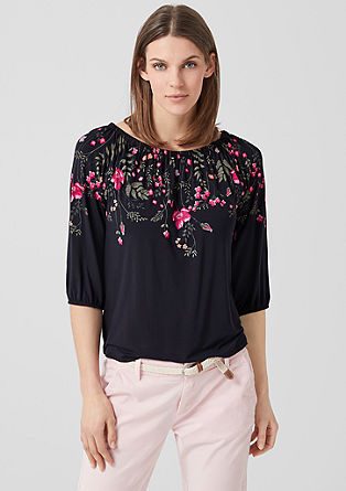 Floral off-the-shoulder top from s.Oliver