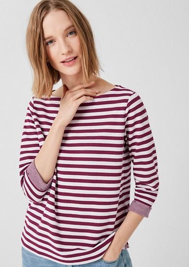Shirt aus Double Face-Jersey