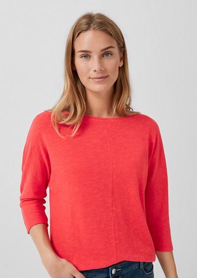 T-shirt à manches chauve-souris en jersey tricoté de s.Oliver