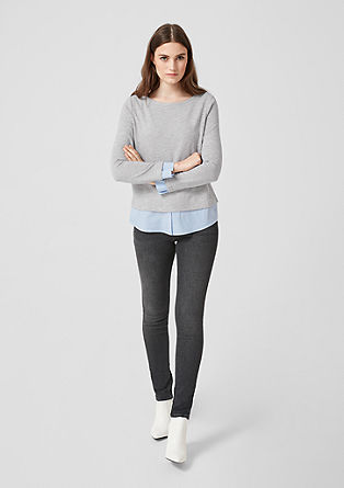 Sweatshirt mit Blusen-Layer
