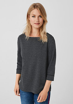 Jacquard sweatshirt with piping from s.Oliver