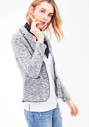 Sweatjacke im Blazer-Look