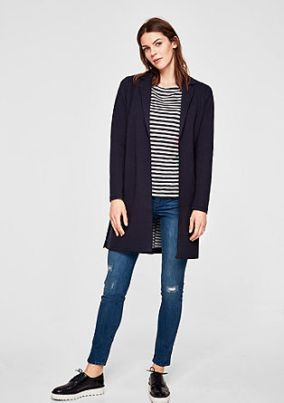 Double-faced sweatshirt coat from s.Oliver