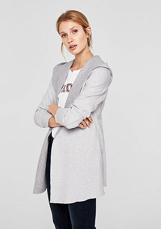 Long hooded sweatshirt jacket from s.Oliver