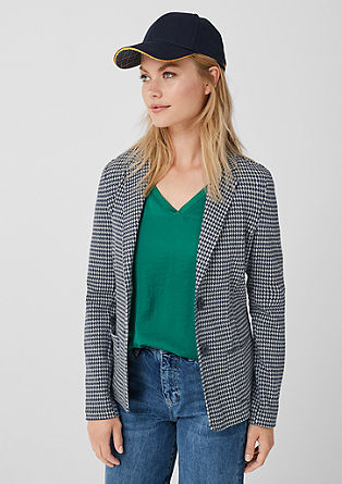 Jacquard sweatshirt blazer with piping from s.Oliver