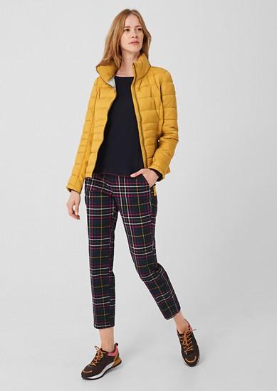 Gewatteerde jas met delen van softshell