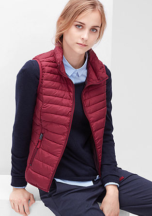 Light down quilted body warmer from s.Oliver