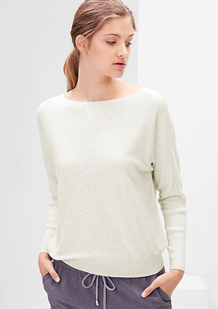 Knitted jumper with batwing sleeves from s.Oliver