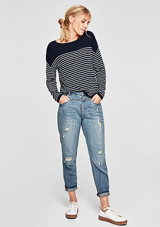 Fine knit jumper with stripes from s.Oliver