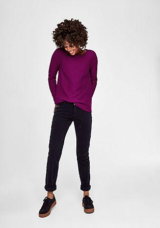 Strohý pletený pulovr