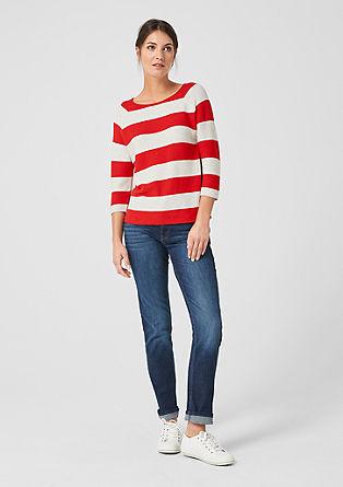Raglánový pulovr sblokovými pruhy