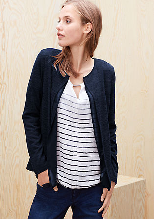 Mottled fine knit cardigan from s.Oliver