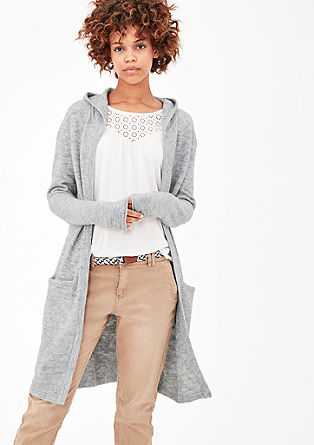 Flauschiger Long-Cardigan