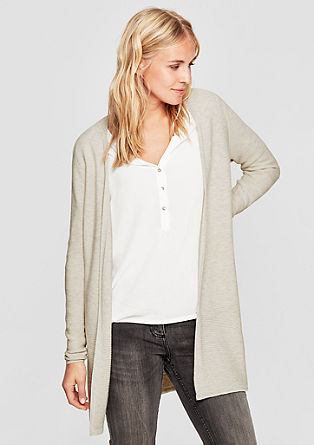 Long cardigan with contrast details from s.Oliver