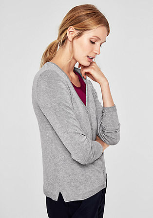 Simple fine knit cardigan from s.Oliver