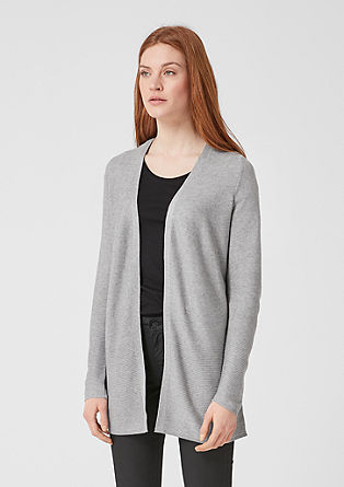 Long cardigan with a mix of textures from s.Oliver