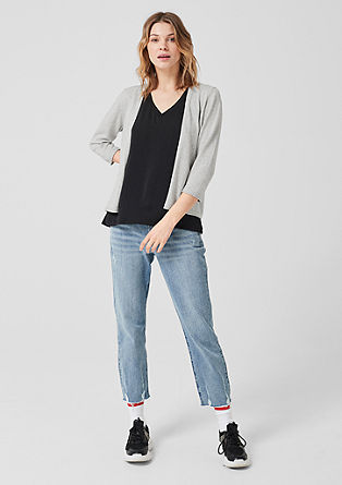 Lightweight cardigan with 3/4-length sleeves from s.Oliver