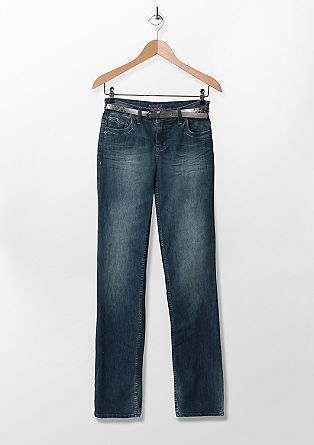 Smart Bootcut: jeans with a studded belt from s.Oliver