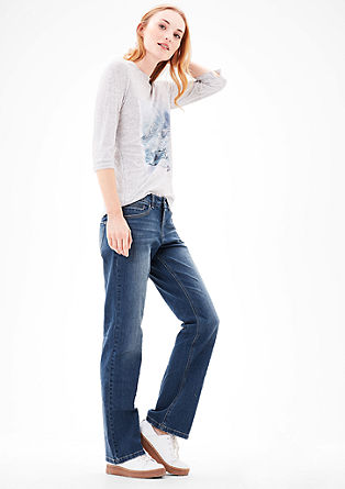 Smart Bootcut: Flared Stretch-Jeans