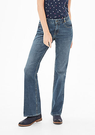 Smart Bootcut: jeans with a garment-washed effect from s.Oliver