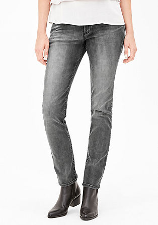 Shape Slim: Graue Stretch-Jeans