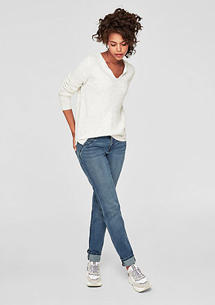 Smart Straight: jeans with decorative studs from s.Oliver