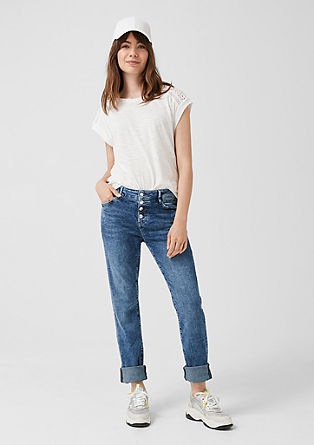 Smart Straight: jeans with a button placket from s.Oliver