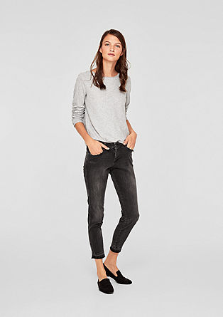 Shape Ankle: Jeans mit Used-Finish