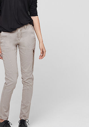 Slim: stretch twill trousers from s.Oliver
