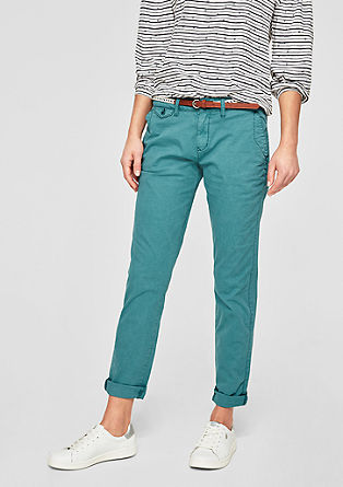 Smart Chino: trousers with a washed finish from s.Oliver