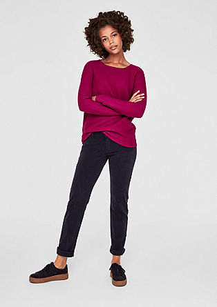 Shape Slim: Cotton satin trousers from s.Oliver