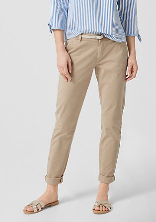 Smart Chino: trousers with a belt from s.Oliver