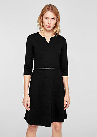 Interlock jersey dress from s.Oliver