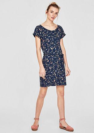 Flammgarn-Kleid mit Printmuster