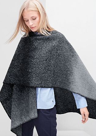 Voluminous poncho in blended wool from s.Oliver
