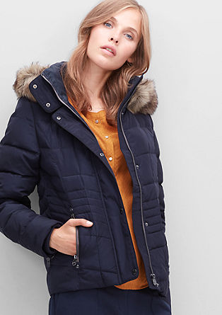 Down jacket with fake fur from s.Oliver