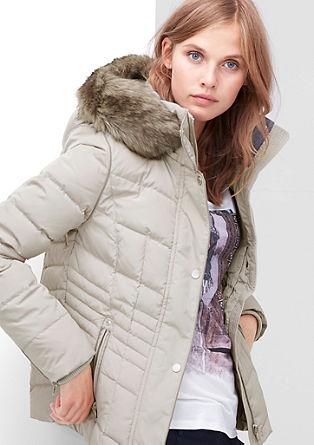 Daunenjacke mit Fake Fur