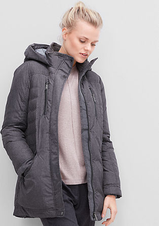 Down coat with a hood from s.Oliver